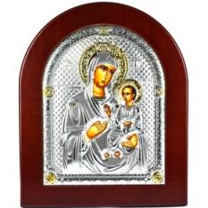 Вратница. Иверская икона Божьей Матери в серебряном окладе.
