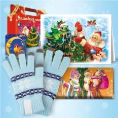 Набор с голубыми сенсорными перчатками