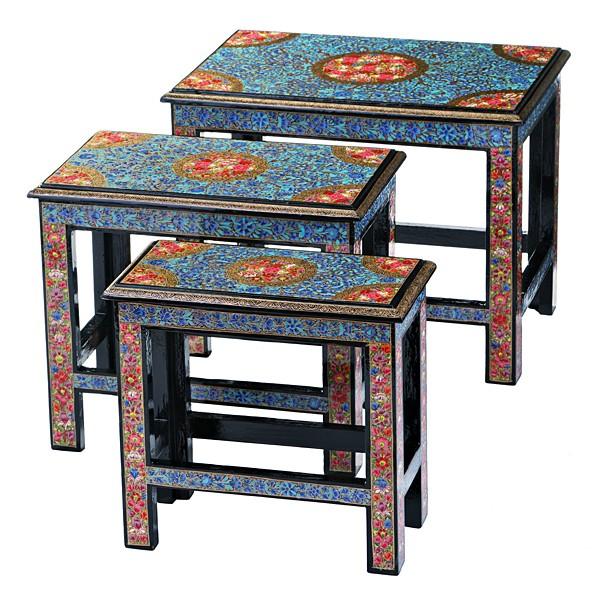 Набор из 3 консольных столиков Индийские узоры 881-008