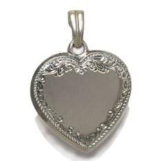 Серебряный кулон с ручной гравировкой Сердце