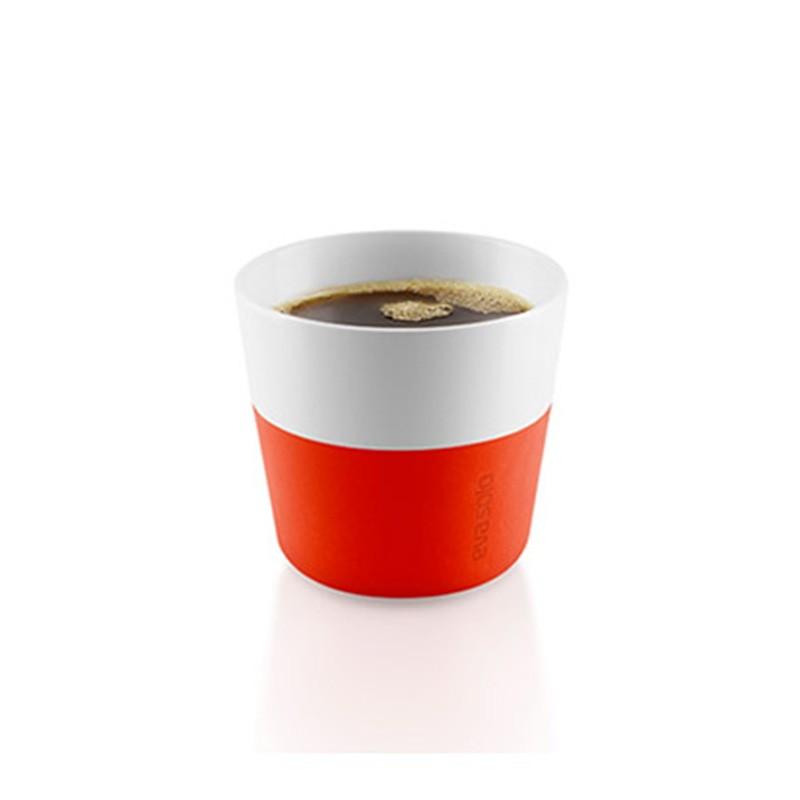 Оранжевые фарфоровые чашки Lungo