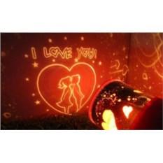 Светильник-проектор Love (цвет: черный)