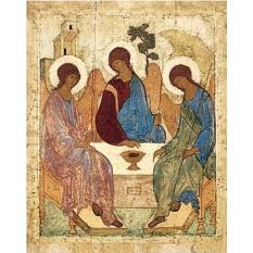 Святая Троица. Копия иконы Андрея Рублева на доске.