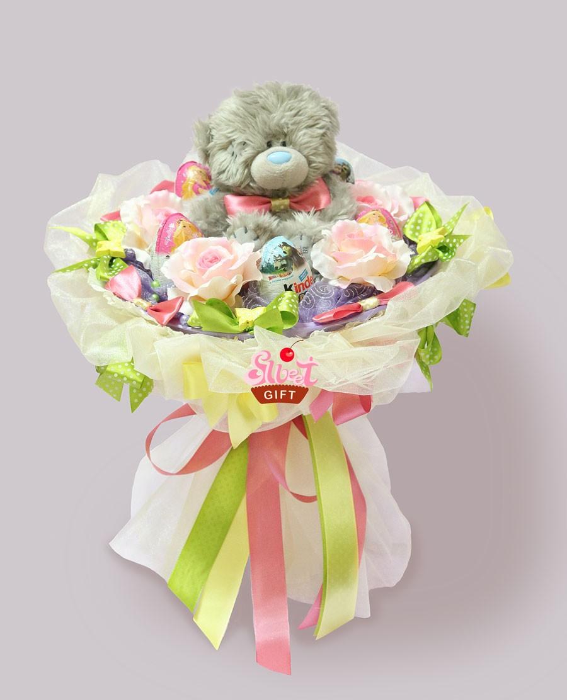 Букет из игрушек Сладкий Тедди
