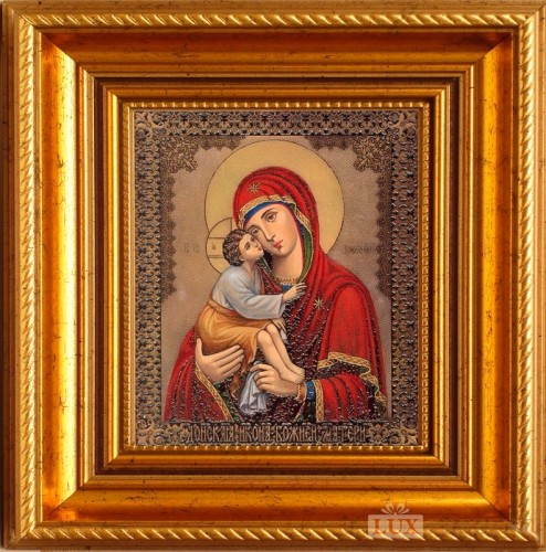 Гравюра Донская икона Божией матери