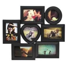 Черная рамка для 7-ми фото Счастливые моменты