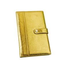 Золотистое портмоне для авиабилетов и кредитных карт