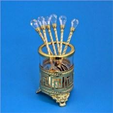Набор из 6 ложек Версаче с кристаллами