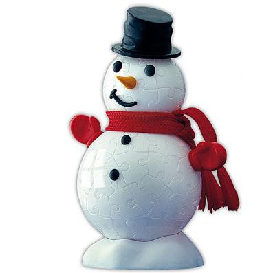 Шаровый пазл «Снеговик»