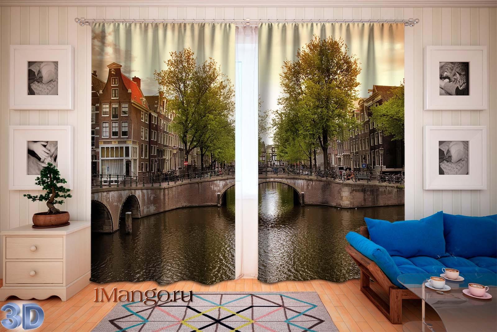 Фотошторы Мост в Амстердаме