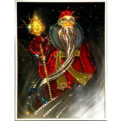 Хрустальная картина «Дед Мороз»