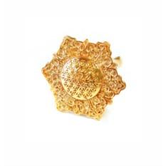 Позолоченное кольцо Цветок жизни (27 мм)