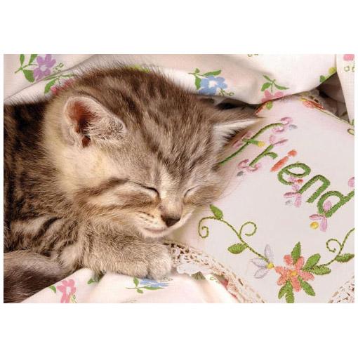 Пазл «Спящий котенок»