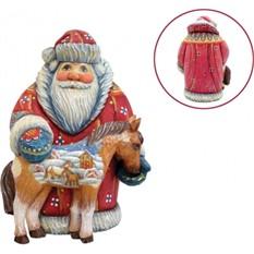 Игрушка Дед Мороз с лошадкой, G.DeBrekht