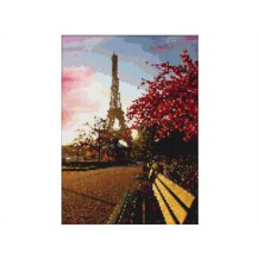 Набор для вышивки стразами «Прогулка по Парижу»