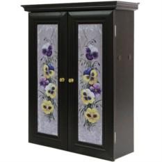 Декоративный настенный шкафчик Анютины глазки венге