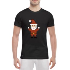 Мужская футболка Pixel Santa