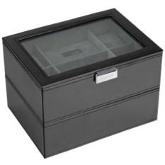 Черная шкатулка с окошком для хранения часов LC Designs