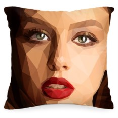 Подушка с шаржем по вашему фото