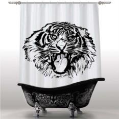 Шторка для ванны Тигр B&W