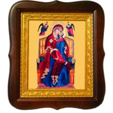 Толгская икона Божьей Матери на холсте.