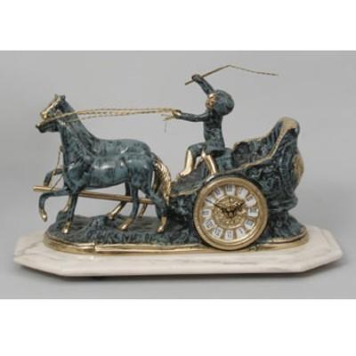 Часы-фигура из бронзы Virtus Колесница