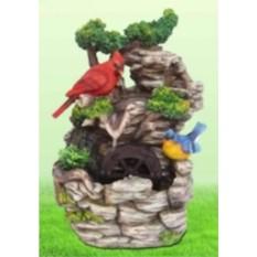 Фонтан с колесом Лесные птички на скале