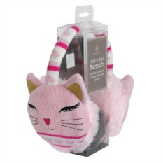Согревающие вязаные розовые наушники Aroma Home Cat