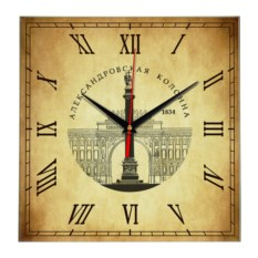Квадратные часы Санкт-Петербург. Александровская колонна