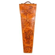 Шампура подарочные в колчане из натуральной кожи