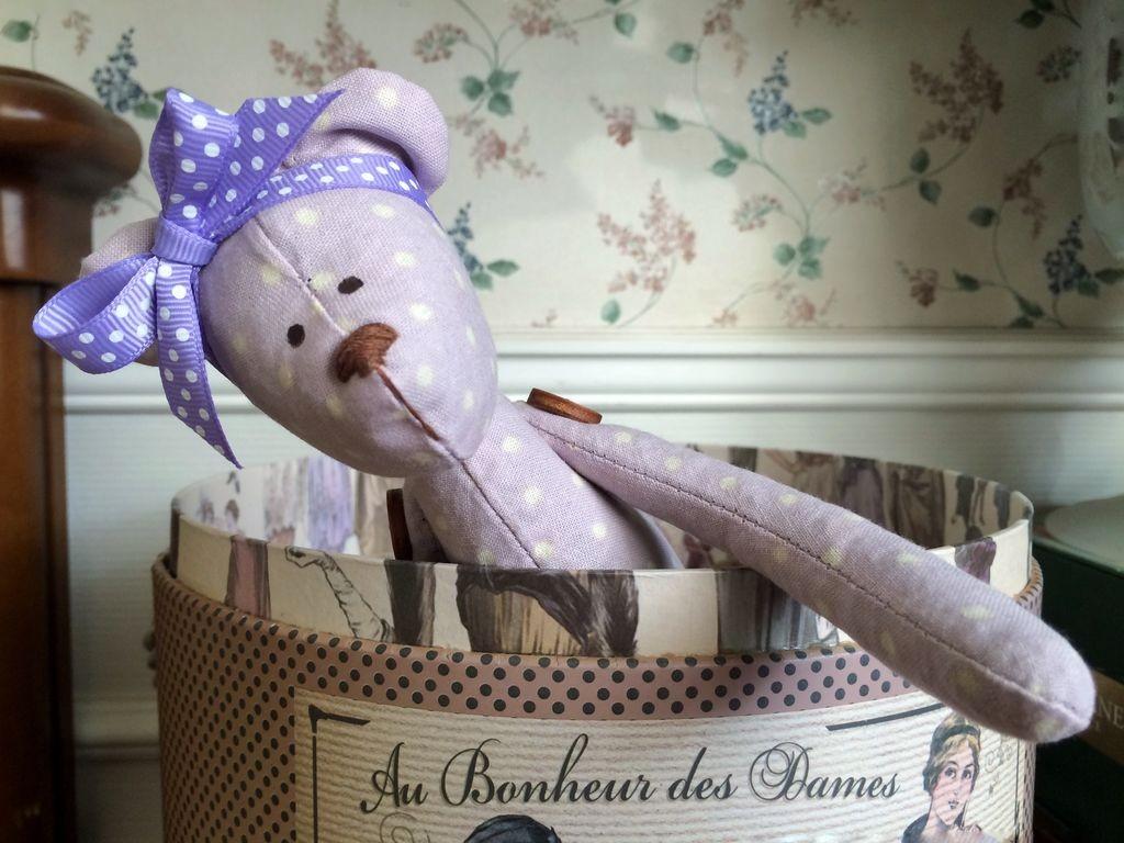 Интерьерная игрушка Лавандовый мишка (девочка)