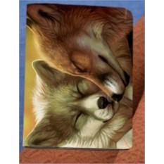 Обложка на паспорт «Пушистые лисички»