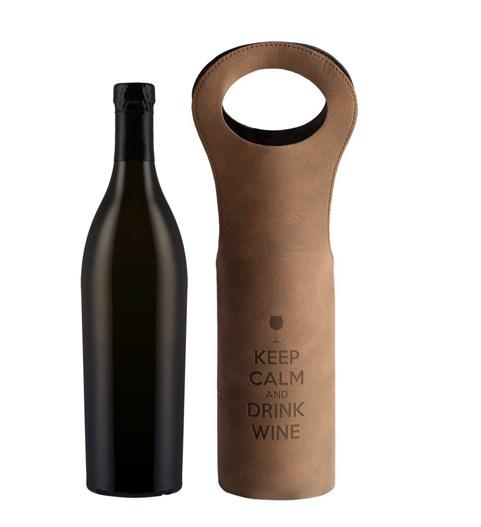 Футляр для бутылки Keep calm and drink wine