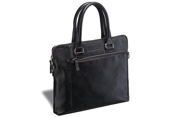 Деловая черная сумка Brialdi Leicester