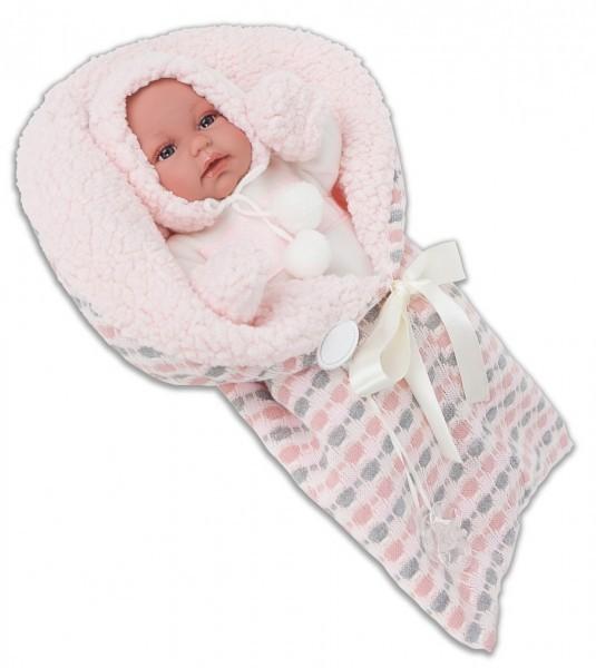 Озвученная кукла-младенец Луиза в розовом