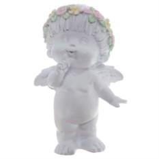 Декоративная фигура Белый ангел с венком