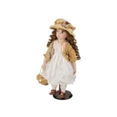 Фарфоровая кукла Леди с мягконабивным туловищем