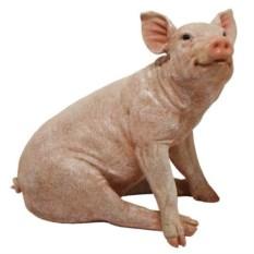 Декоративная садовая фигура Свинья