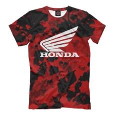 Красная мужская футболка Honda