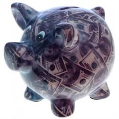 Копилка К деньгам с долларами