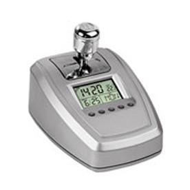 Часы с датой, термометром и радио в виде коробки переключения скоростей