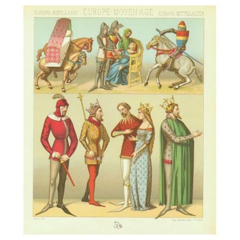 Средневековая Европа: сценка с беременной дамой...