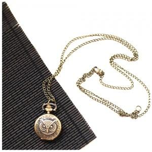 Медальон-часы Сова