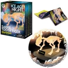 Светящаяся сборная модель «Скелет Саблезубого тигра»