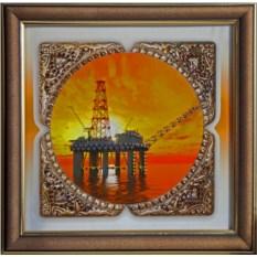 Картина с кристаллами Сваровски Нефть-2