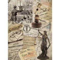 Рисовая бумага для декупажа Craft Premier Закон (28,2х38,4 см)