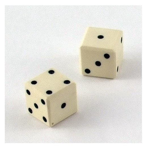 Игральный кубик из кости