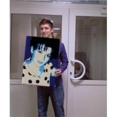 Поп-арт портрет по фото (40x60 см)