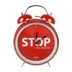Настольные часы с будильником СТОП сон