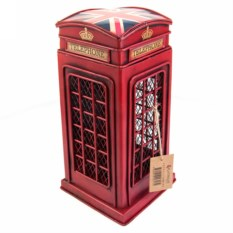 Копилка Телефонная будка с британским флагом на крыше